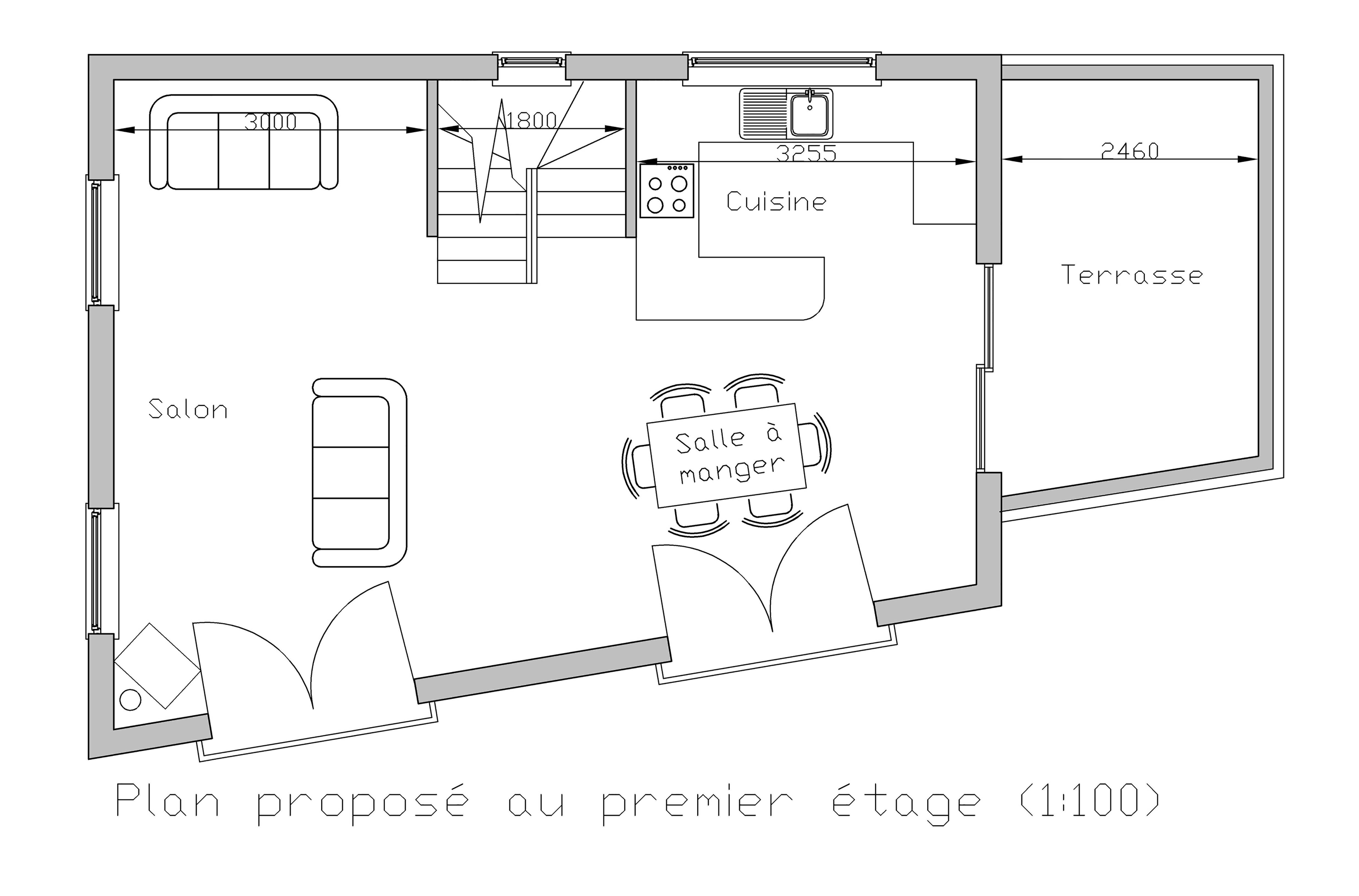 French Chalet gound floor plan